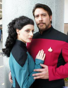 Troi and Riker