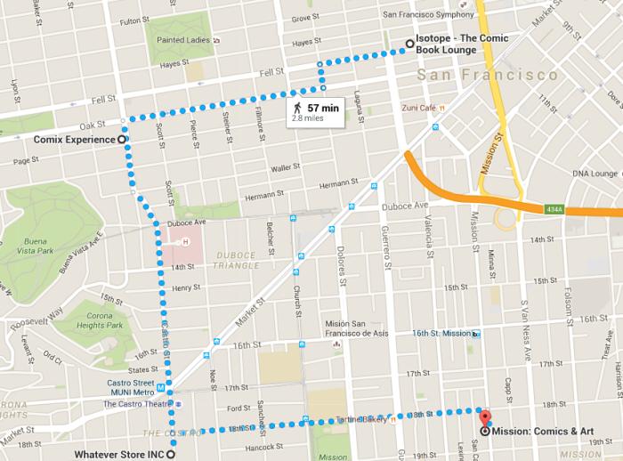 SF Close up map