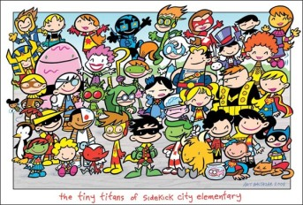 Tiny Titans crew by Art Baltazar. Aw Yeah!